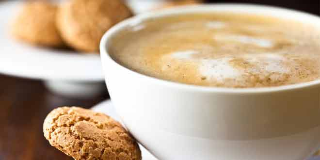 steaming mocha cocoa coffee