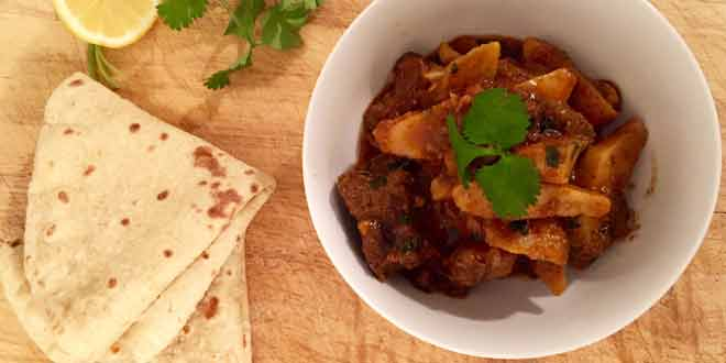 taro root spicy karhai recipe