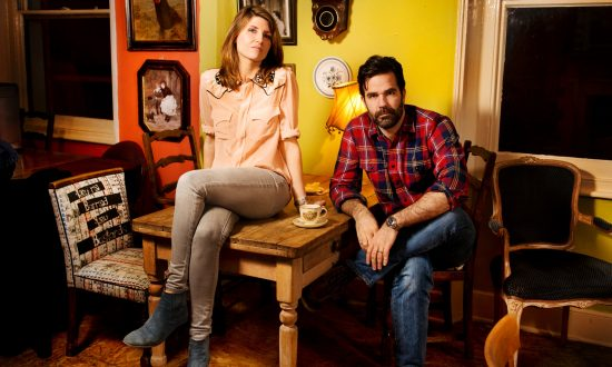 Sharon Horgan and Rob Delaney who have mae the Channel 4 comedy Catastrophe together.  Photographed at Norman's Coach and Horses, Soho. Please credit location if poss.  Photo by Linda Nylind. 8/1/2015.