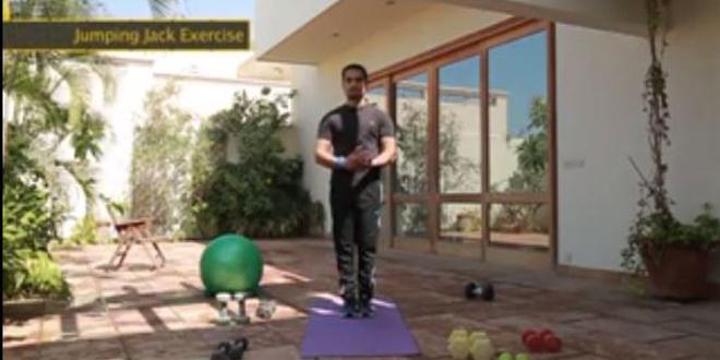 jumping jack exercies