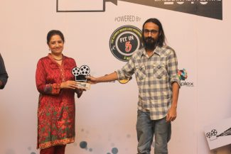 From Left to Right: Atiqa Odho and Ahsan Mannan (Winner for Best Cinematography