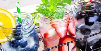 Beat the heat: Liven up a glass of water with flavors and colors