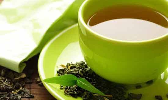 Oatmeal and green tea