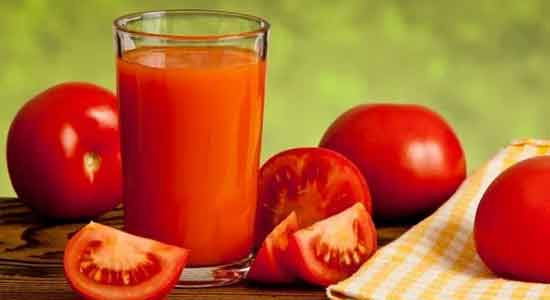 Tomato juice for smelly hair