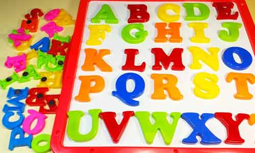 Colorful Alphabets to learn child