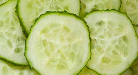 Cool It with Cucumber to Treat Sunburn