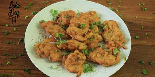 Pyaaz Pakora or Onion Pakroas