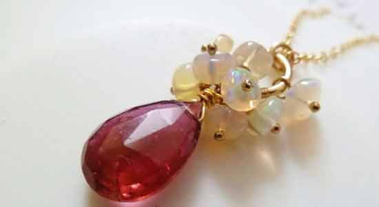 October Pink Tourmaline Opal