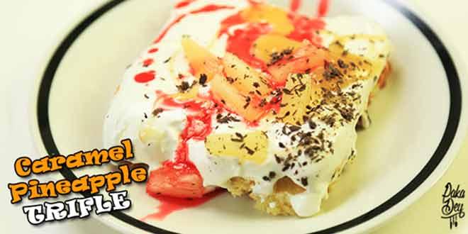 Caramel Pineapple Trifle