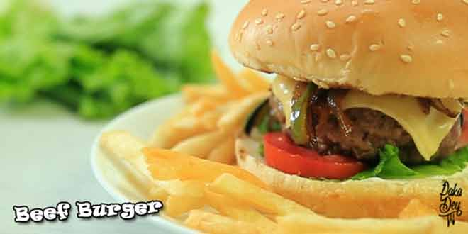 Beef Burger paka dey