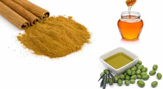 Olive Oil, Honey, Cinnamon Powder